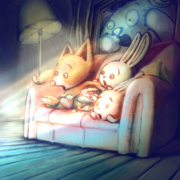 movie night illustration