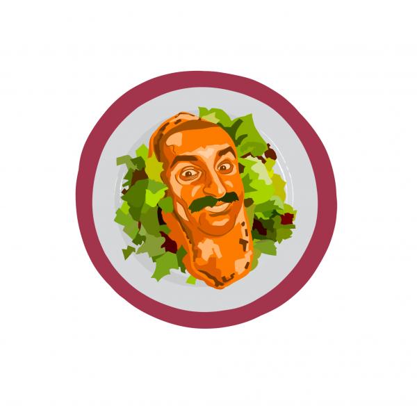 Sweet Potates and Salad / Bogdan