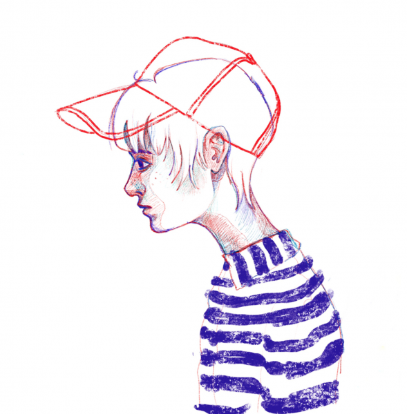 striped girl 2
