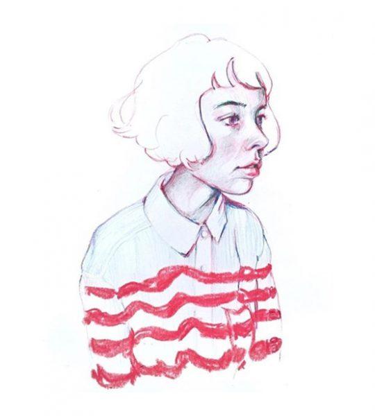 striped girl 1