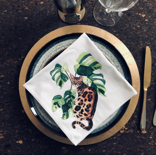 Jungle Cat napkins