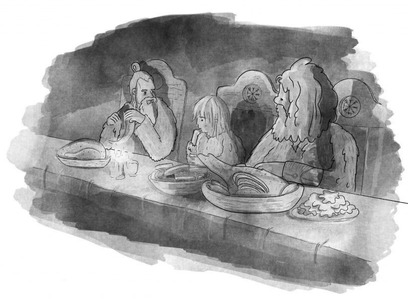Viking Meeting | Little Loki Children's Book Illustration