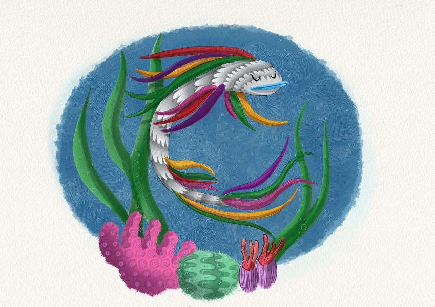 The Rainbowfish Is Swimming | Children's Book Concept Illustration