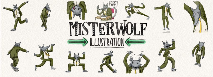 Mister Wolf Banner Illustration