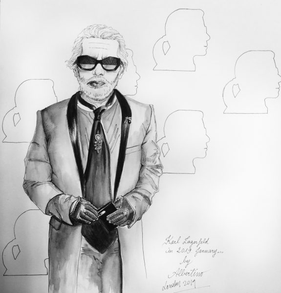 Karl Lagerfeld by Albertino