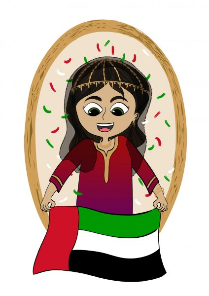 UAE National Day Girl