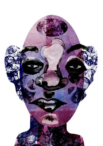 Purple Texture Man