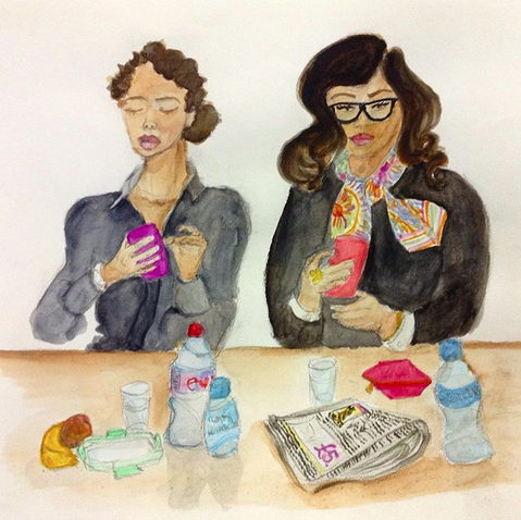 Two ladies in the canteen