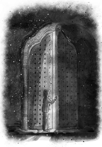 The Door | Little Loki Children's Book Illustration