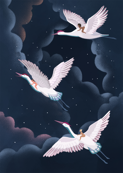 Night Cranes