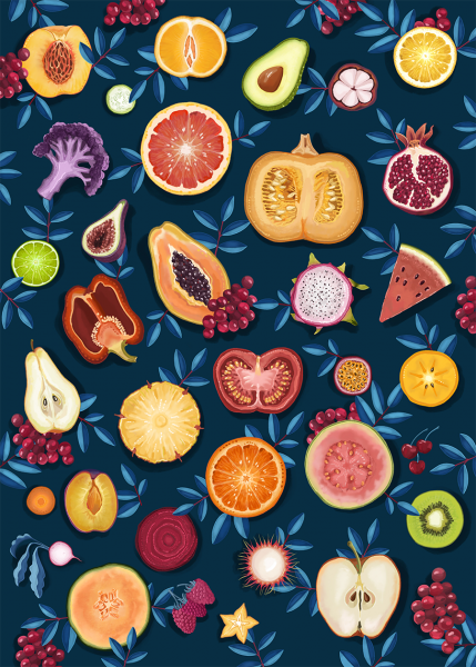 Fruits and Veggies Patter n