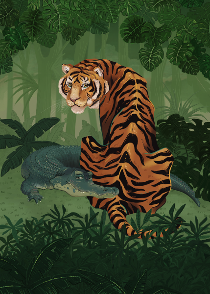The tiger and the crocodile