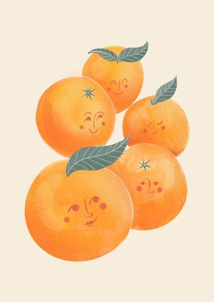 Happy Bunch of Oranges