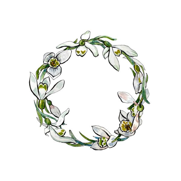 Snowdrop Wreath