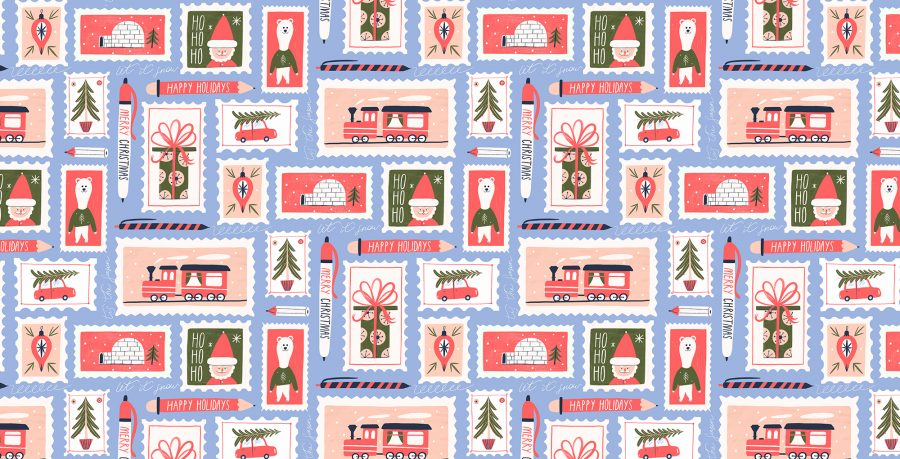 Stamps pattern