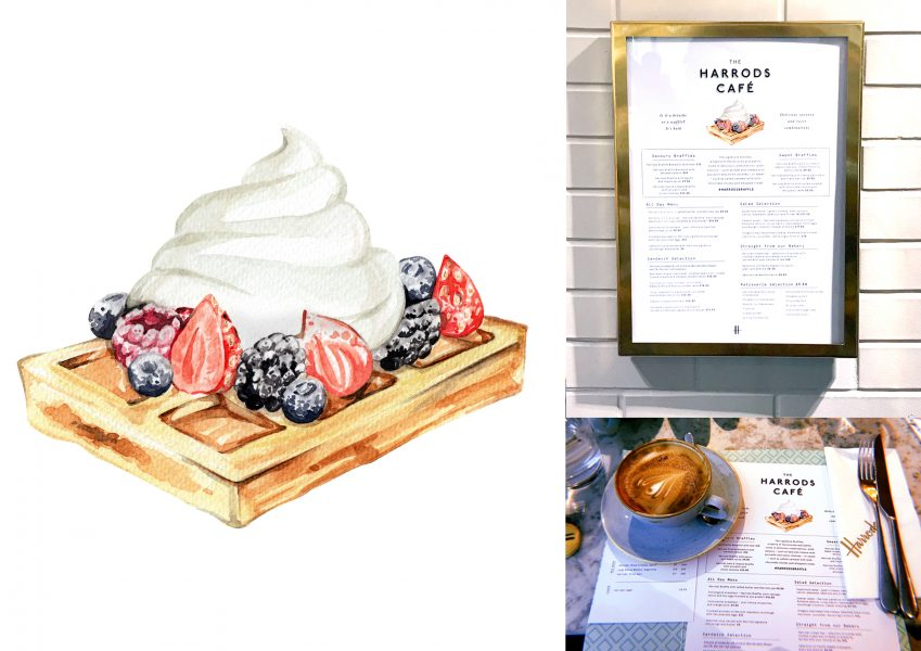 Harrods Cafe Illustration - Braffle