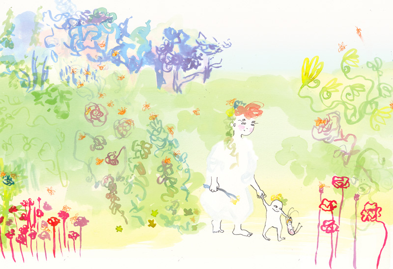 Strolling, Boy Bug Frog picture book 2019