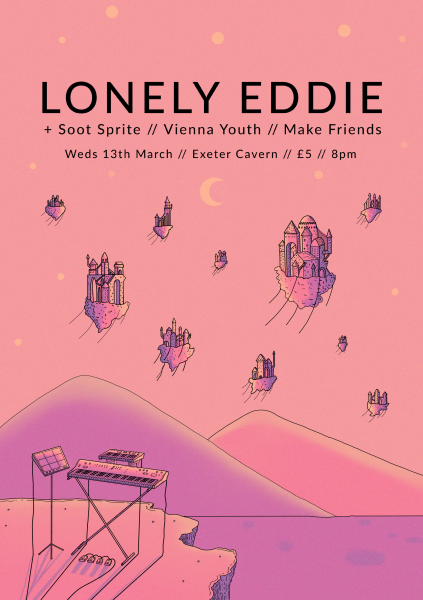 Lonely Eddie Gig Poster