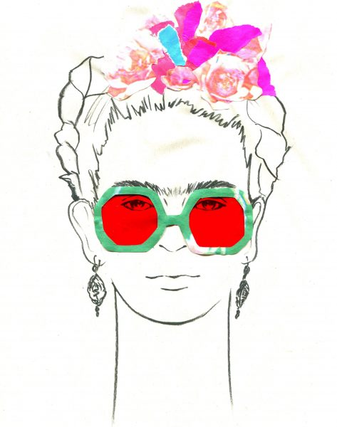 Frida Glasses Red