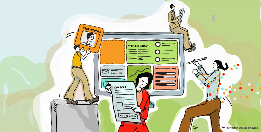 Illustration for networking event and coaching session for Heads-up Coaching: 'Make your website work for you'