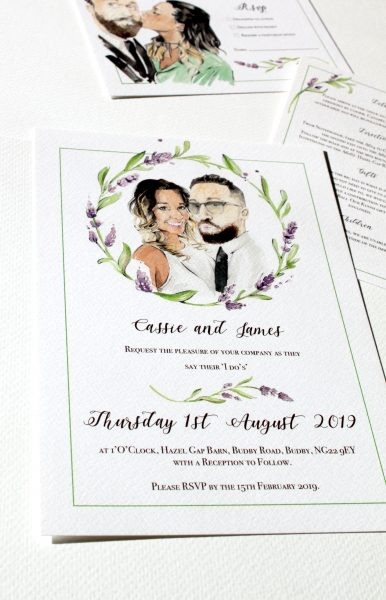 Cassie and James Invites