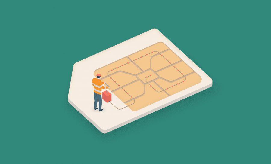 Sim Card Texture