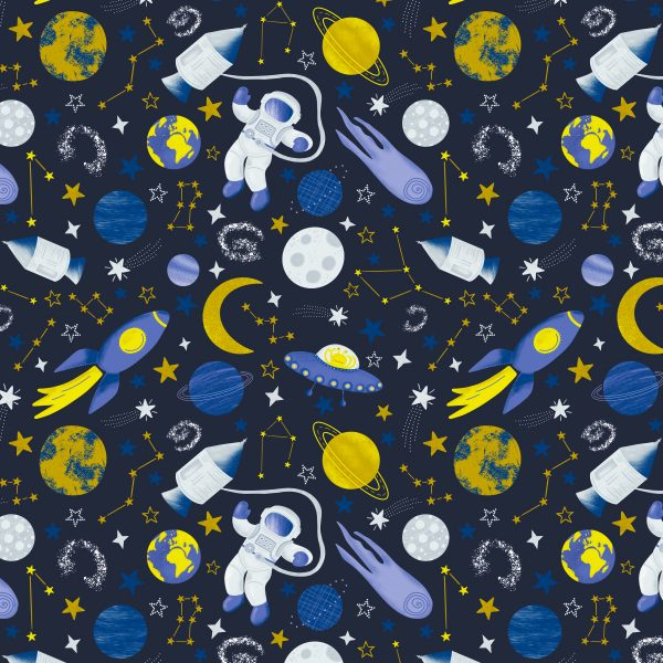 Spaceman Pattern Design