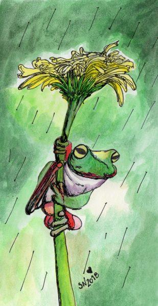 Quirky umbrella