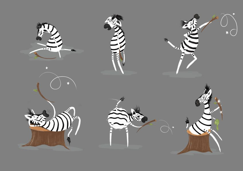 Character design - zebra