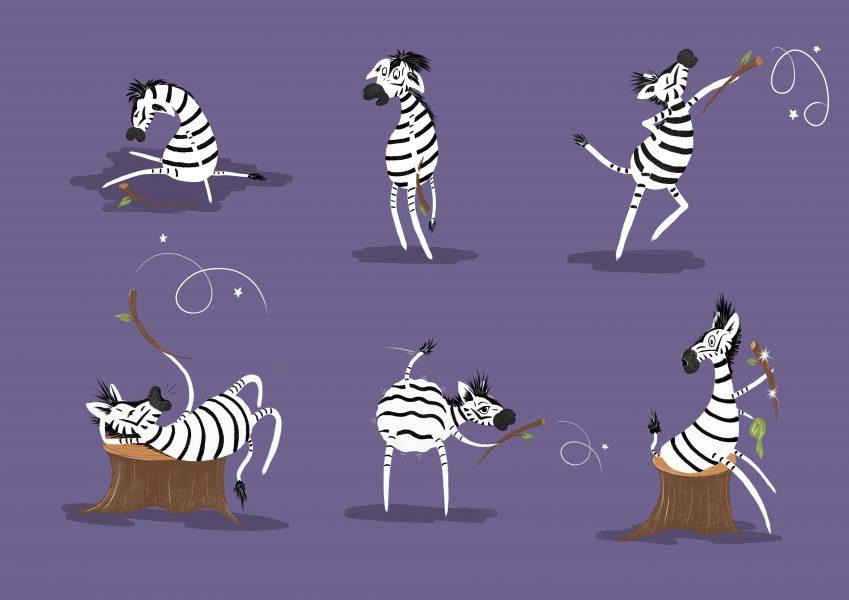 Zebra Character development