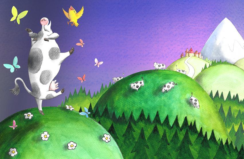 Bird and Cow's Journey