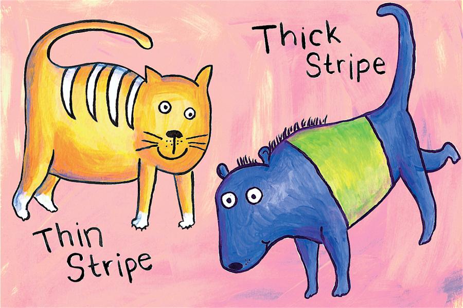 Thin Stripe Thick Stripe