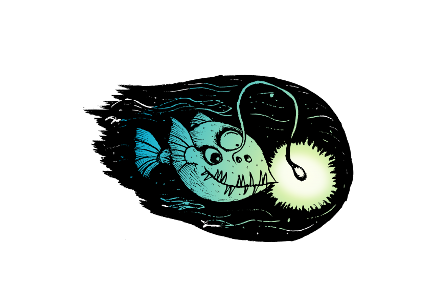 Happy is the Angler Fish