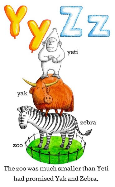 ABC Stories - Yeti, Yak and Zebra