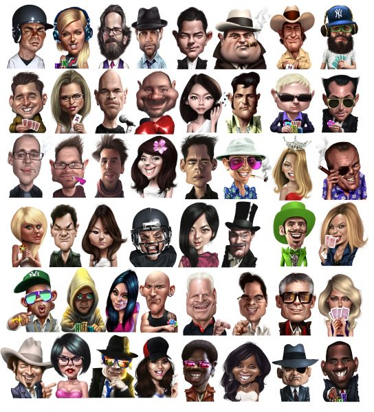 Poker player avatars