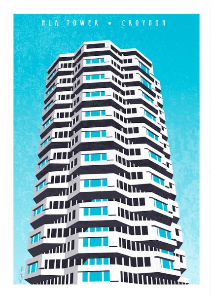 Brutalist Croydon by Mel Smith Designs