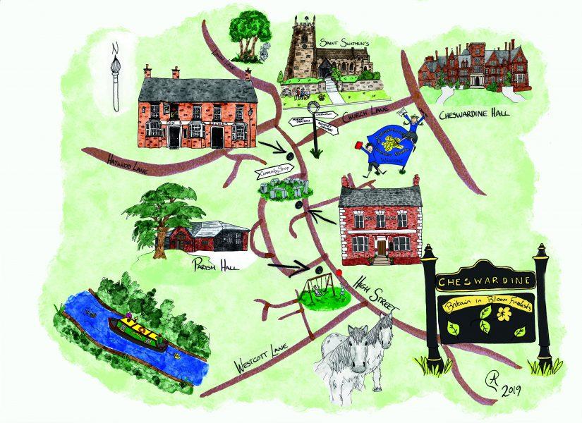 Village Map - Cheswardine