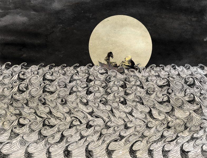 Sailing under moonlight