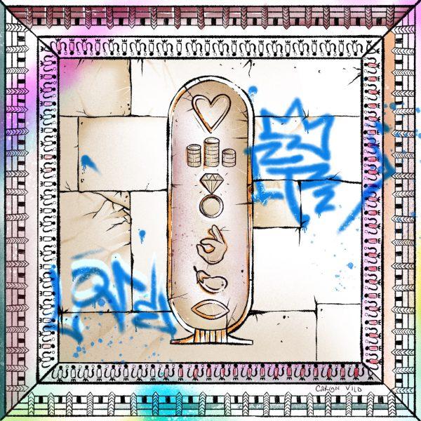 Emoji egyptian cartouche