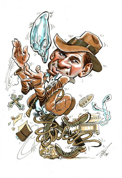 Indiana Jones Caricature