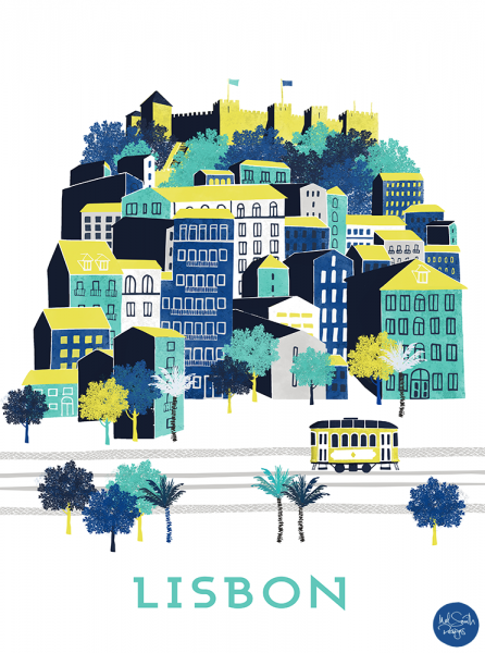 Lisbon Castle by Mel Smith Designs