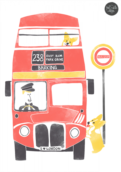 Red London Bus by Mel Smith Designs