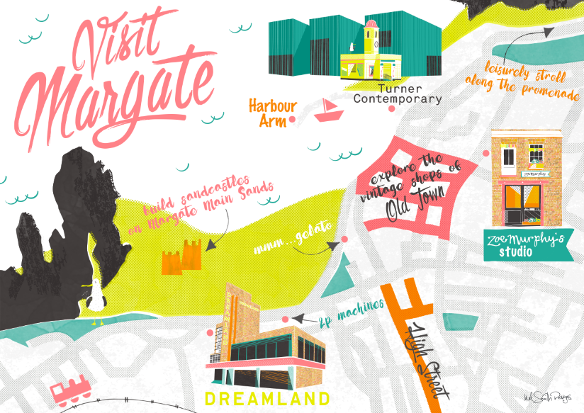 Margate Map by Mel Smith Designs