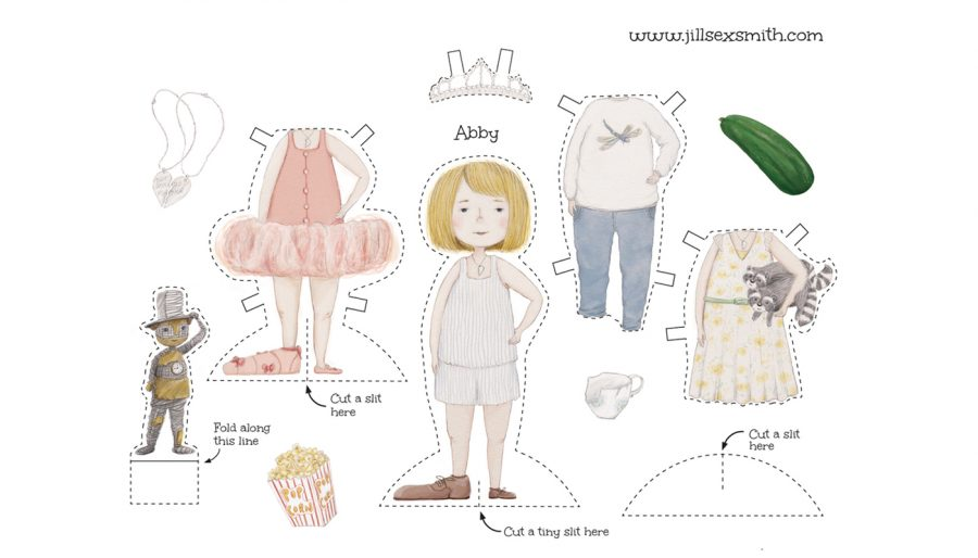 Paper doll cutout sheet