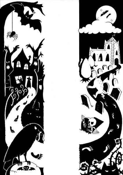 Spooky Halloween Diptych