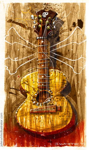 Pirate-Blues Guitar, illustration