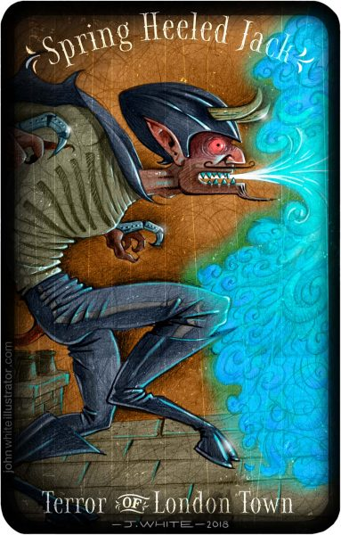 'Spring-heeled Jack' book-style illustration