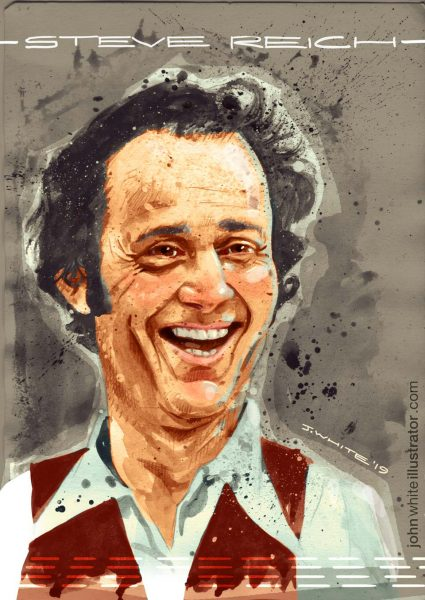 Steve Reich portrait illustration