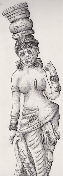 Ivory river goddess