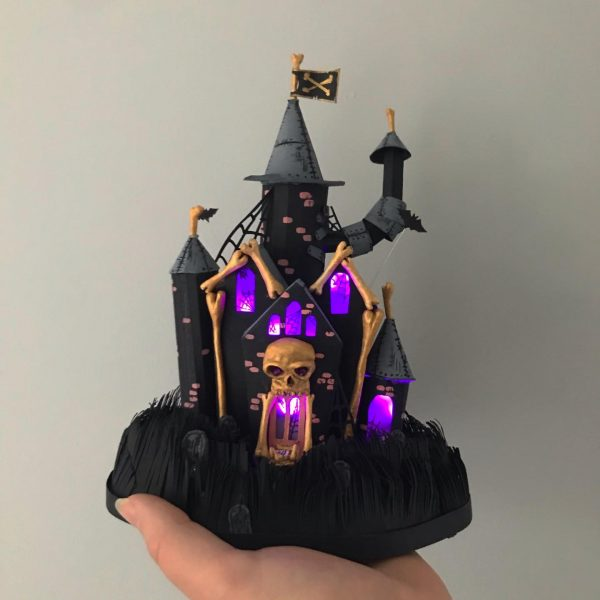 Haunted House Paper Sculpture